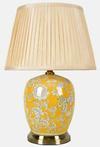 Large Oriental Ceramic Porcelain Table Lamp (M11131) - Chinese Mandarin Style