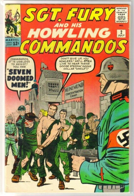 SGT FURY & HOWLING COMMANDOS #2 Seven Doomed Men! Marvel Comic Book ~ VG/FN