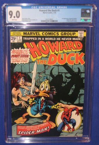 Marvel Howard the Duck #1 CGC 9.0 Comic Book 1st Beverly 1976 Galaxy Spider-Man