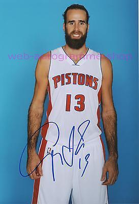 LUIGI DATOME - DETROIT PISTONS NBA SIGNED IN PERSON AUTOGRAMM AUTOGRAPH 20x29 CM