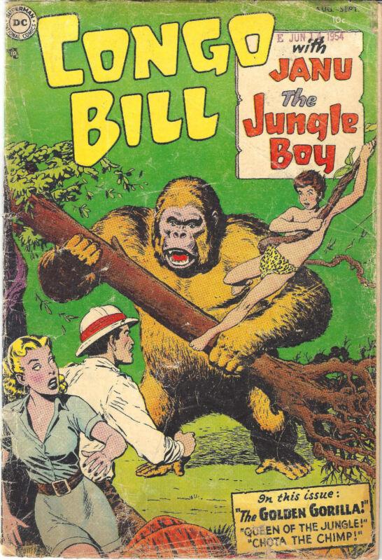 DC Comics CONGO BILL #1 Aug.-Sept 1954 in VG Very Scarce!