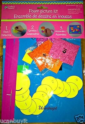 Arts & Crafts FOAM CATERPILLAR Picture Kit ~ No Glue Required Ages 4+