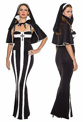 Erotic Adult Costumes (Deluxe Erotic Nun Costume, Music Legs 70326, Adult 3 Piece, Size XS,)