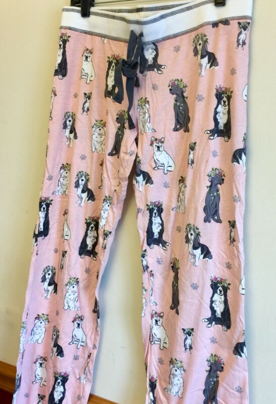 Pink French Bulldog Pajama Pants