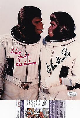 (Roddy McDowell & Kim Hunter Planet of the Apes Signed 8x10 Photo JSA Certified )