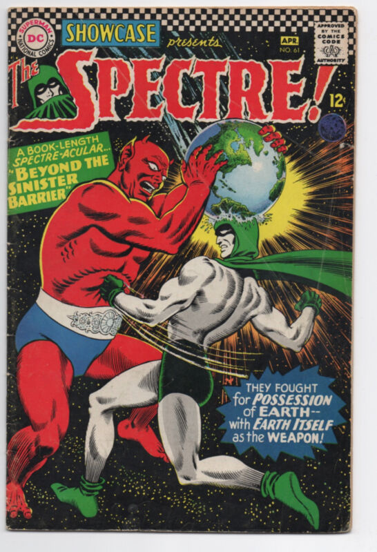 DC COMICS  SHOWCASE  61   SPECTRE  1966  EARLY SA APPEARANCE