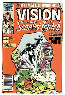 THE VISION AND THE SCARLET WITCH #11 (SPIDER-MAN BLACK COSTUME) NM 1986 - Marvel Scarlet Witch Costume