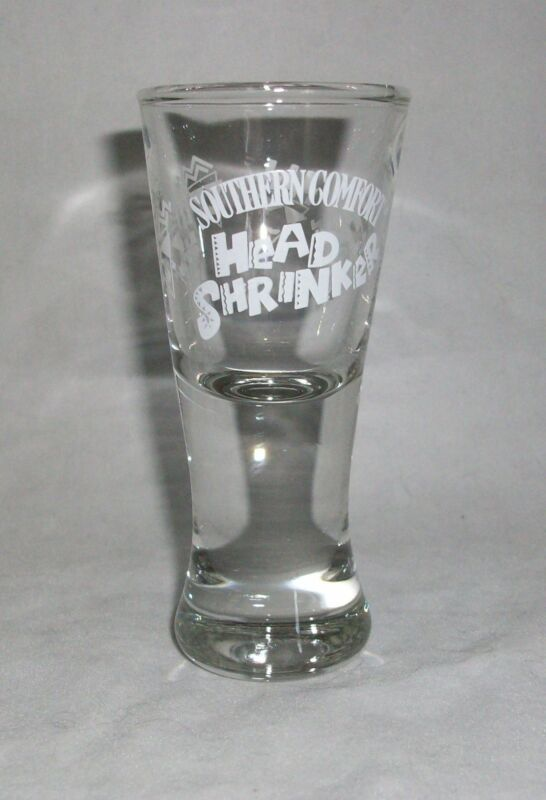 Shot Glass Southern Comfort Head Shrinker Liquor Bar Shooter Fluted 2 oz Unique