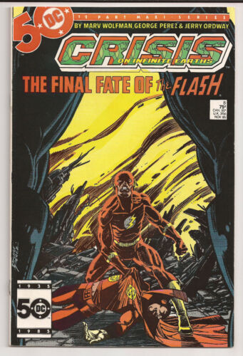 Crisis on Infinite Earths #8 (1985) VF Death of Flash Barry Allen