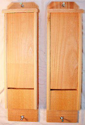 2 Single Chamber Cedar Bat Houses Hand Crafted Natural Pest Control