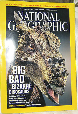 National Geographic Dec 2007 Dinosaurs Albatross Cowboy