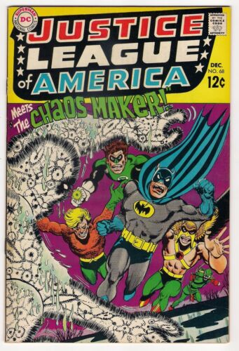 JUSTICE LEAGUE OF AMERICA 68 1968 Glossy Fine-(Special Grading Note) Appears NM-