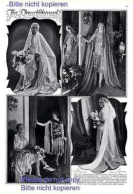 Im Brautschmuck XL Seite mit Fotoabb. 1925 Brautkleid 20er Jahre Hochzeit +