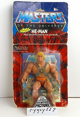 Motu  He Man  Masters Of The Universe  Moc  Carded  Vintage  Original  Figure