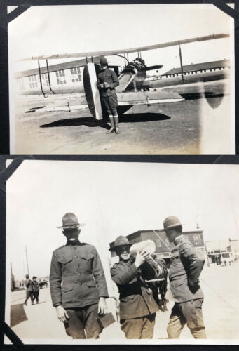 IDed Army Photo Album Texas, Indians, Airplane, Music Band, Mexico Border War