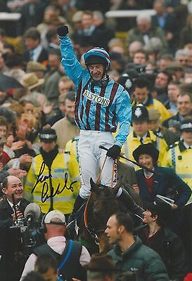 Jim Culloty Hand Signed 12x8 Photo Best Mate Cheltenham Gold Cup
