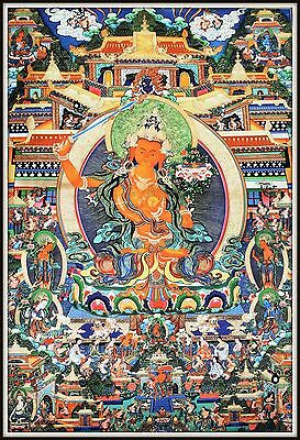 """Mysterious!   """"Thankga Fine Art Print from Tibet""""   (35"""" High x 23.5"""" Wide)"""