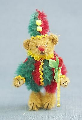 "DEB CANHAM ""BOPP"" JESTER BEAR MINIATURE MOHAIR LIMITED EDITION BEAR"