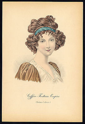 Antique print-HAIRSTYLE-WOMAN-PORTRAIT-EMPIRE-MADAME LEBRUN-Nissy-1910