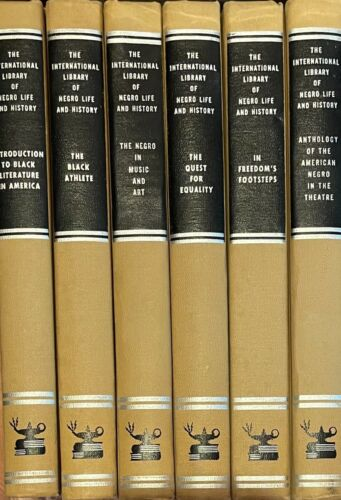 6 Volumes INTERNATIONAL LIBRARY OF NEGRO LIFE AND HISTORY Black American Studies