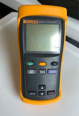 Used Fluke 51 Ii Dual-input Digital Thermometer 1 Probes Tp 239651