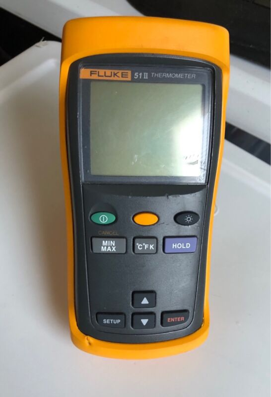 Used Fluke 51 II Dual-Input Digital Thermometer + 1 probes TP# 239651
