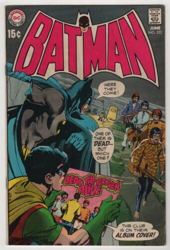 Batman 222 (1970 DC) FN- Condition Classic Neal Adams Beatles Cover