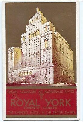 The Royal York hotel, Toronto, Canada, postcard