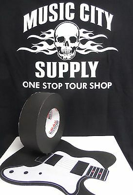 "MUSIC CITY GAFFERS TAPE, GAFF TAPE  2"" X 60YD!  BLACK OR WHITE"