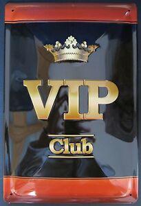 VIP-CLUB-Letrero-de-metal-con-relieve-NUEVO