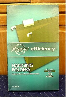Ampad Hanging File Folders--legal Size--box Of 10