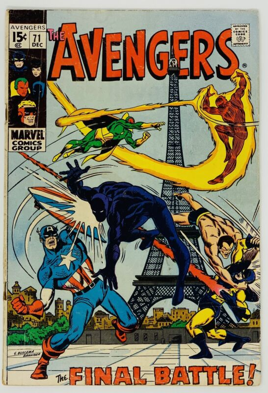 Avengers #71 Marvel Comics 1969. First Appearance of the invaders.