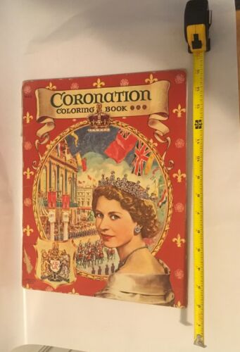 Vintage Queen Elizabeth Coronation Coloring Book British Royalty History
