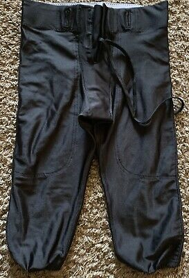$25 RIDDELL Youth Integrated Knee Practice Football Pants Black Medium