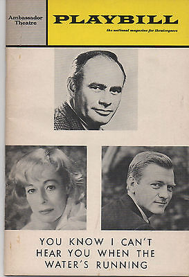 1967 Playbill You Know I Can't Hear You When The Water's Running Martin Balsam