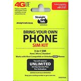 Straight Talk Micro Nano Standard SIM Card for AT&T Tower GSM Network Triple Cut