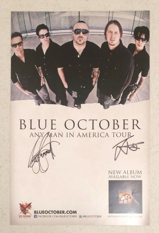 Blue October Poster Signed In-Person 2011