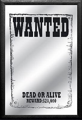 Barspiegel Fun Wanted,  20 x 30 cm Retro, Nostalgie, Werbung