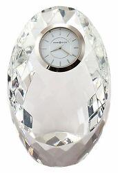 645-732 RHAPSODY A CRYSTAL  HOWARD MILLER TABLE/ MANTLE CLOCK