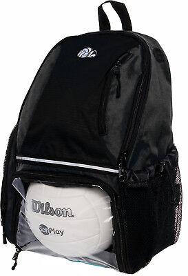b293eb1f37 LISH Girls Large School Sport Volleyball Backpack Bag w Ball Compartment ( Black)