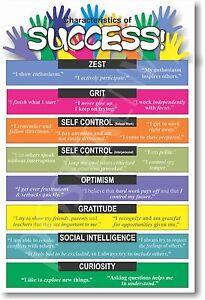 Characteristics of Success - NEW School Classroom Student Motivational POSTER