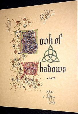 BOS Handcrafted Charmed Inspired Book of Shadows Prop Replica 600 Pages W/autos