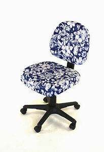 Office-seat-cover-Vintage-Habiscus-NEW