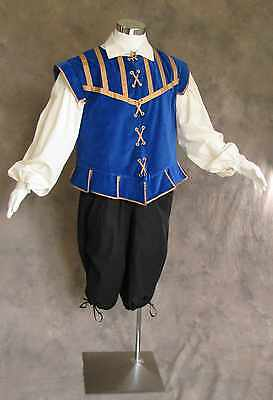 Men's Renaissance Doublet Costume Game of Thrones GOT Ren Faire Cosplay Blue S - Renaissance Faire Costumes Men