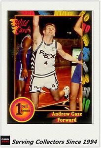 1992 U.S.A Collegiate Basketball Trading Card Wild Card Andrew Gaze--Rare!