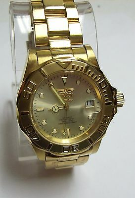 INVICTA Gold Plated 600 Ft Professional Diver Automatic Watch - 21 Jewels