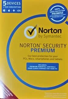 Norton Internet Security Premium 2017 Antivirus 5 Users 1 Year PC