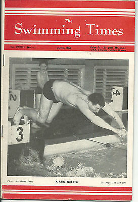The Swimming Times magazine-1960 June- Relay Takeover. GBvSoviet Union