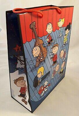 Snoopy & Peanuts Gang - Geschenk Tüte gift bag / Tasche / groß blau rot / Neu