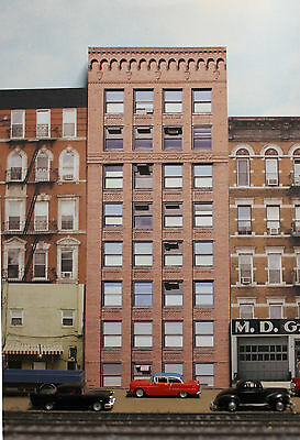 #235 N scale background building flat  OLD OFFICE BUILDING #1   *FREE SHIPPING*